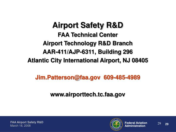 Airport Safety R&D