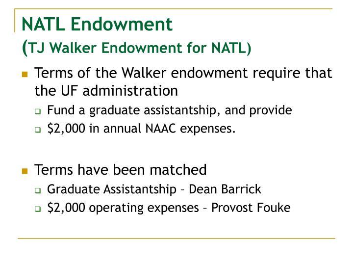 NATL Endowment