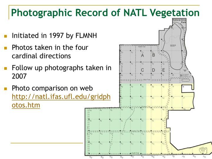 Photographic Record of NATL Vegetation