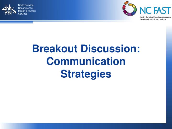 Breakout Discussion: