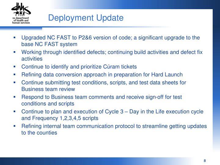 Deployment Update