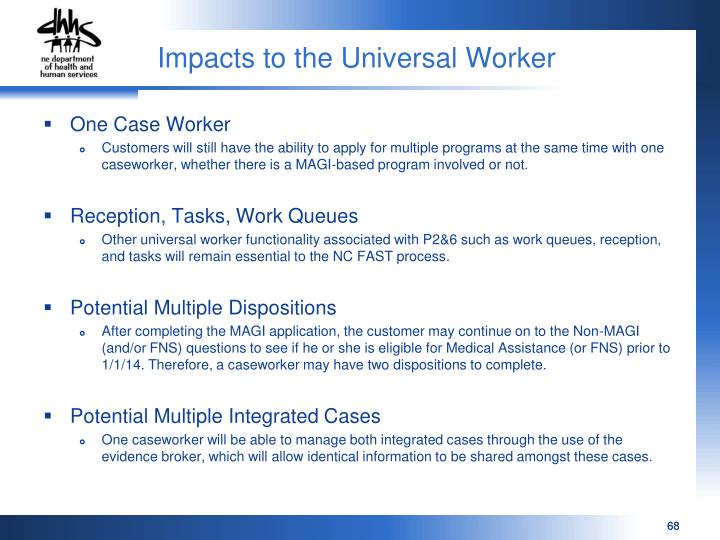 Impacts to the Universal Worker