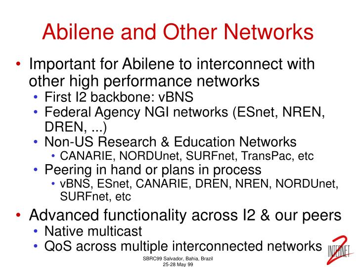 Abilene and Other Networks