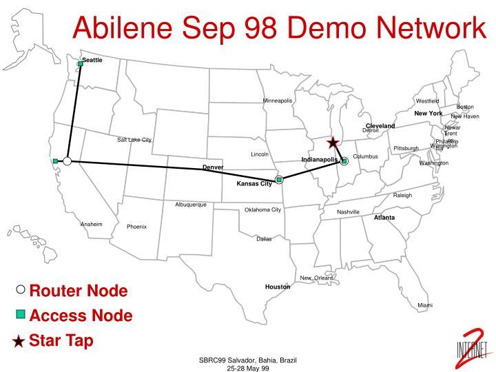 Abilene Sep 98 Demo Network