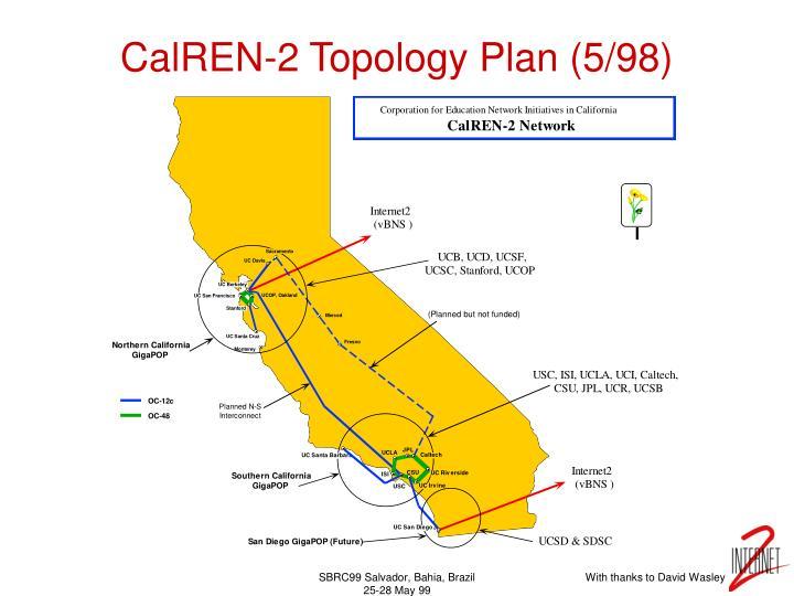 CalREN-2 Topology Plan (5/98)