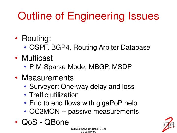 Outline of Engineering Issues