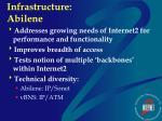 infrastructure abilene