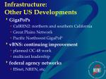infrastructure other us developments