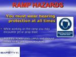 ramp hazards