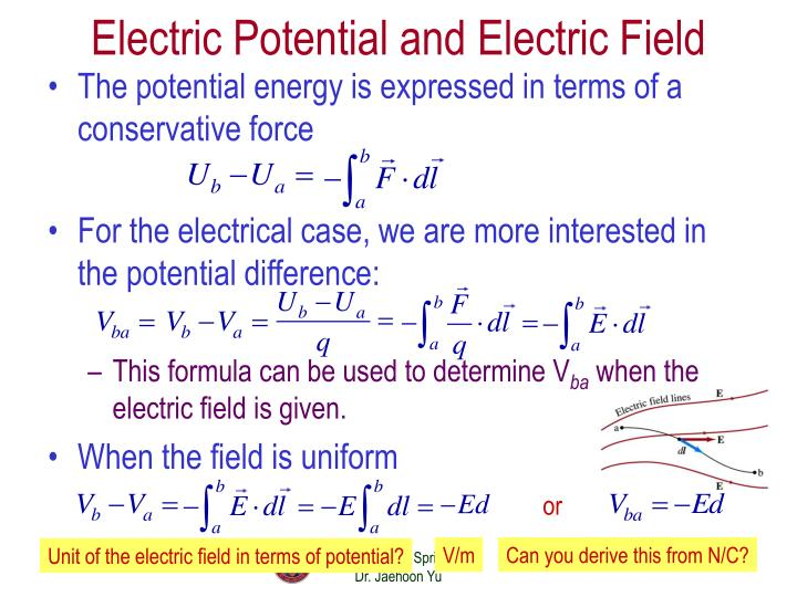 Electric Potential and Electric Field