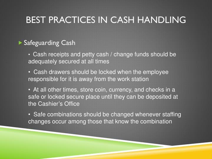 Best Practices in Cash Handling