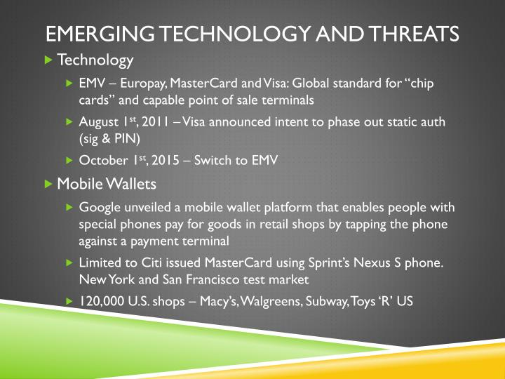 Emerging Technology and threats