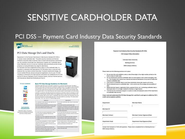 Sensitive cardholder data