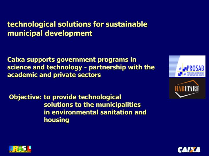 technological solutions for sustainable municipal development