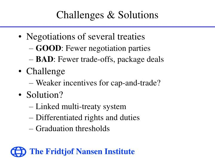 Challenges solutions