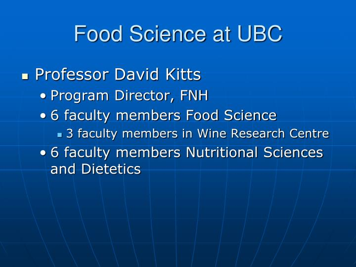 Food Science at UBC