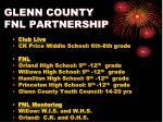 glenn county fnl partnership