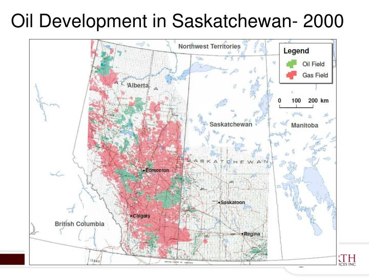 Oil Development in Saskatchewan- 2000