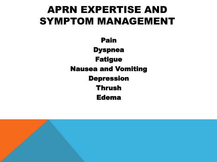 APRN Expertise and Symptom Management