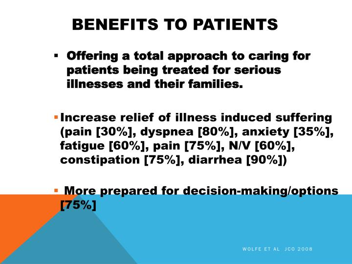 BENEFITS TO PATIENTS