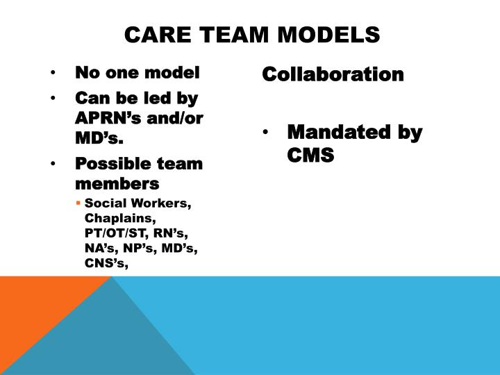 Care Team Models