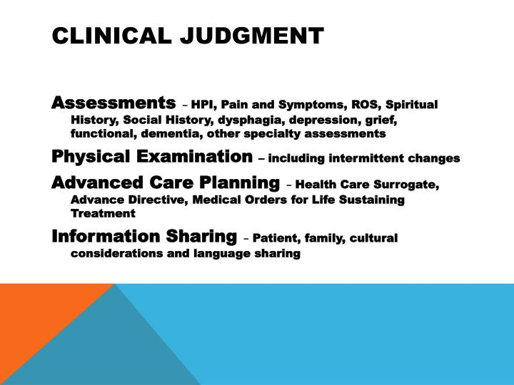 Clinical Judgment
