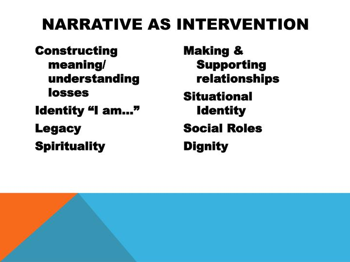 Narrative as Intervention