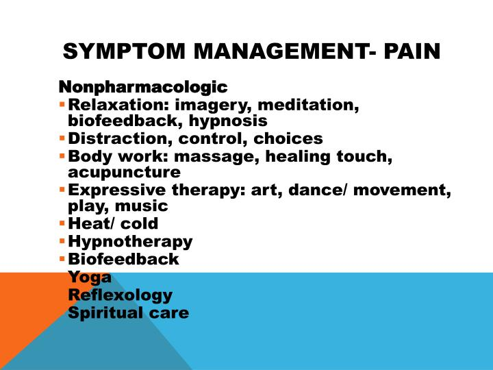 Symptom Management- Pain
