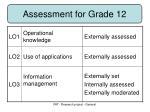 assessment for grade 12