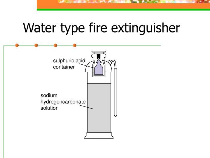 sulphuric acid container