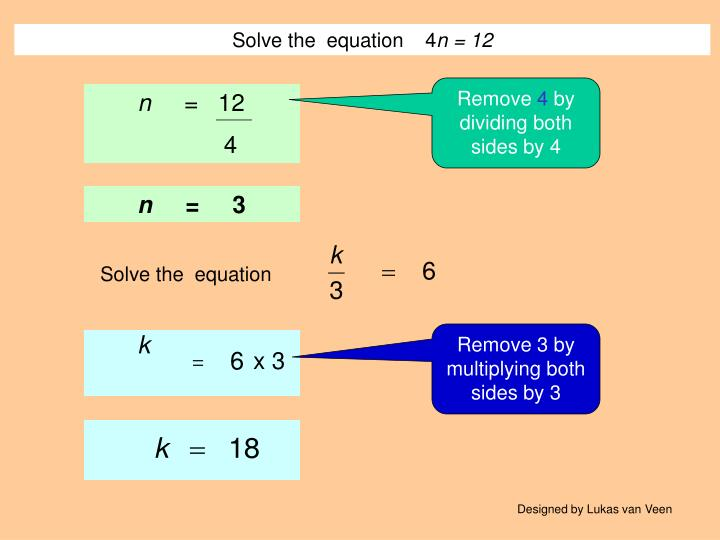Solve the  equation    4