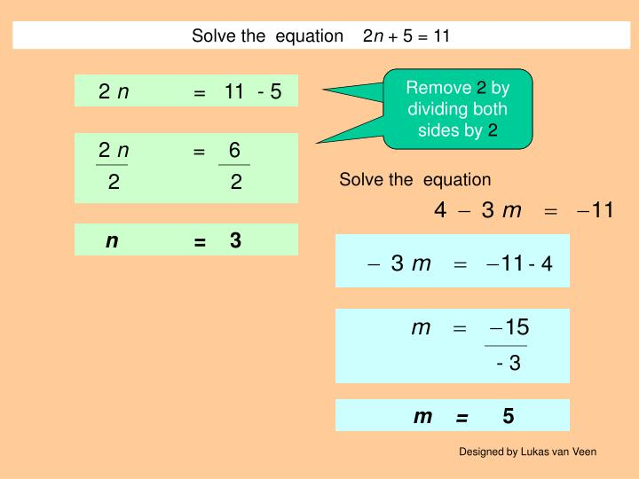 Solve the  equation    2