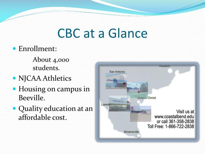 Cbc at a glance