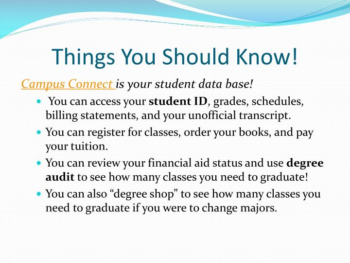 Things You Should Know!