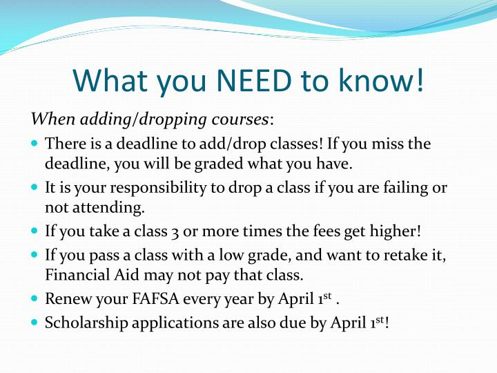 What you NEED to know!