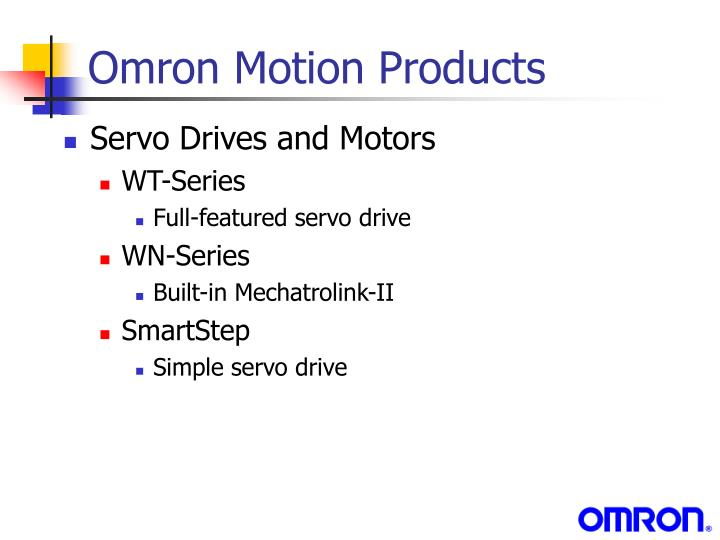 Omron Motion Products