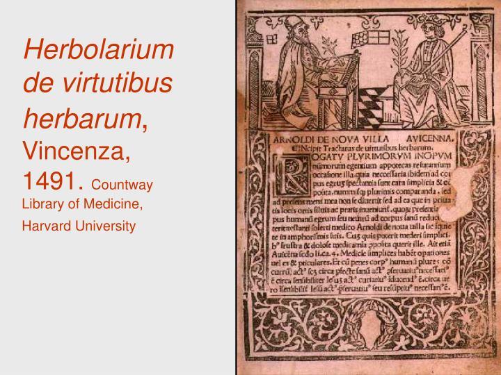 Herbolarium de virtutibus herbarum