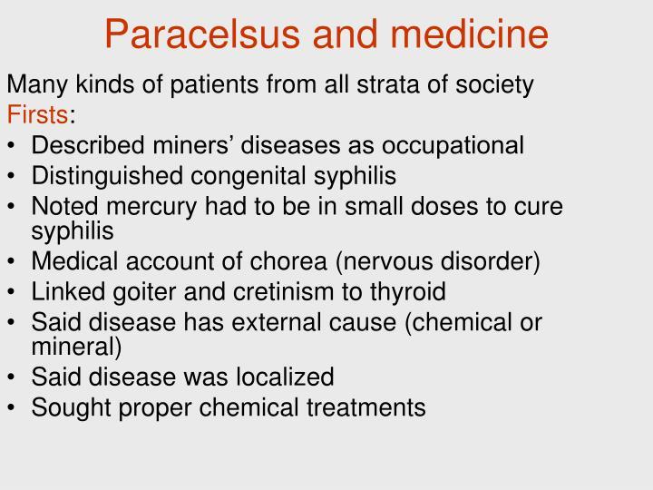 Paracelsus and medicine