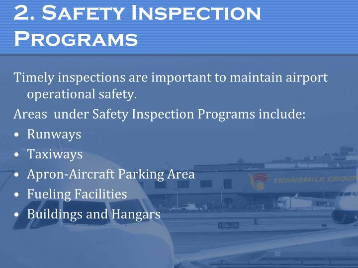 2. Safety Inspection Programs