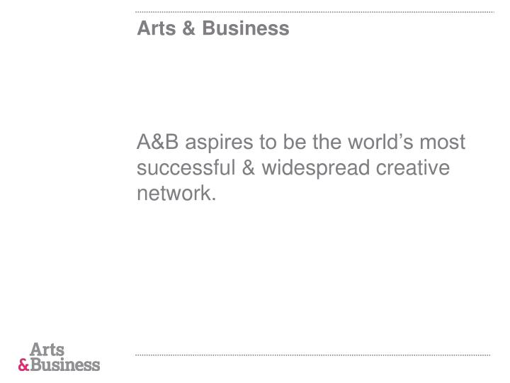 Arts business