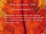 first occurrence leaf