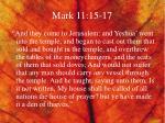 mark 11 15 17