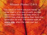 mizmor psalm 12 6 8