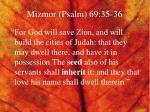 mizmor psalm 69 35 36