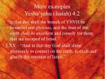 more examples yesha yahu isaiah 4 2