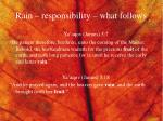 rain responsibility what follows