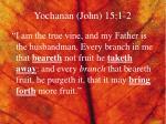 yochanan john 15 1 2