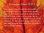 yochanan john 15 3 5