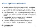 national priorities and themes