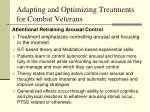 adapting and optimizing treatments for combat veterans2